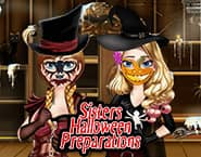 Sisters Halloween Preparations
