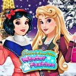 Aurora och Snövit Vitt Vintermode