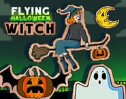 Halloween Witch Fly